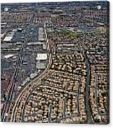 Arial View Of Las Vegas Acrylic Print by Susan Stone