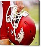 Arkansas Razorback Helmet Acrylic Print by Replay Photos