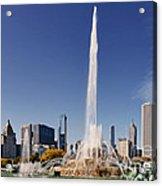 Art Deco Buckingham Fountain Chicago Acrylic Print by Christine Till