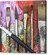 Art Is Messy 6 Acrylic Print by Carol Leigh