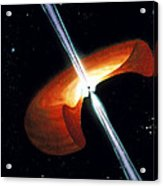 Artwork Showing A Mechanism For Gamma-ray Bursts Acrylic Print by Nasa