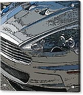 Aston Martin Db S Coupe Nose Detail Acrylic Print by Samuel Sheats