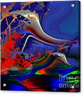 Astral Duck Acrylic Print by Doris Wood