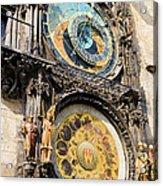 Astronomical Clock In Prague Acrylic Print by Artur Bogacki