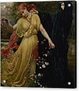 At The First Touch Of Winter Summer Fades Away Acrylic Print by Valentine Cameron Prinsep