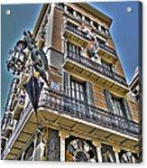 At The Plaza De La Boqueria ... Acrylic Print by Juergen Weiss