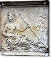 Athena Relief In Gdansk Acrylic Print by Artur Bogacki