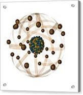 Atomic Structure, Artwork Acrylic Print by Crown Copyrighthealth & Safety Laboratory
