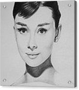 Audrey Hepburn Acrylic Print by Steve Hunter