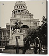 Austin Capitol Acrylic Print by Lisa  Spencer
