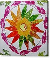 Autumn Chakra Acrylic Print by Sonali Gangane