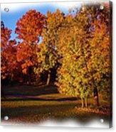 Autumn On Swanson's Path Acrylic Print by Liz Evensen