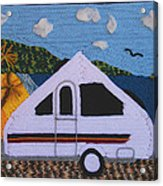 A'van By The Sea Acrylic Print by Patricia Tapping