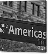 Avenue Of The Americas Acrylic Print by Susan Candelario