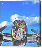 B-25j Jazzed Acrylic Print by Lynda Dawson-Youngclaus