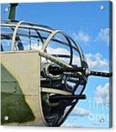 B-25j Nose Acrylic Print by Lynda Dawson-Youngclaus