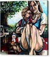 Baby's First Picnic Acrylic Print by Shana Rowe Jackson