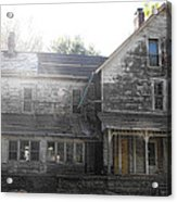 Back Of 1860's Mansion Acrylic Print by Kristie  Bonnewell