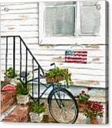 Back Step Acrylic Print by Nancy Patterson