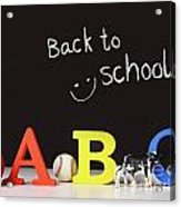 Back To School Concept With Abc Letters Acrylic Print by Sandra Cunningham