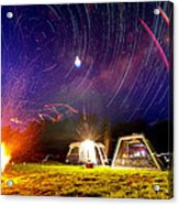 Back Yard Camping Acrylic Print by Aaron Priest