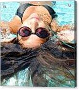 Backstroke II  Acrylic Print by Leah Silberman