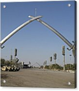 Baghdad, Iraq - Hands Of Victory Acrylic Print by Terry Moore