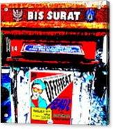 Bali Graffitied Funky Postbox Acrylic Print by Funkpix Photo Hunter