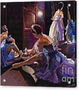 Ballet Behind The Scenes Acrylic Print by Yuriy  Shevchuk