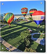 Balloons In Coolidge Park Acrylic Print by Tom and Pat Cory