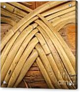 Bamboo And Wood Construction Acrylic Print by Yali Shi