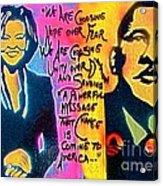 Barack And Michelle Acrylic Print by Tony B Conscious
