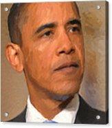 Barack Obama Acrylic Print by Nop Briex