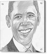 Barack Obama Acrylic Print by Tibi K