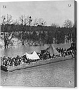 Barge Loaded With Poor African American Acrylic Print by Everett