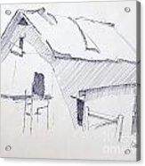 Barn 3 Acrylic Print by Rod Ismay