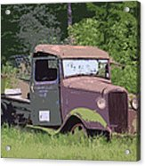 Barn Fresh Pickup Acrylic Print by Steve McKinzie