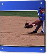Baseball Hot Grounder Acrylic Print by Thomas Woolworth