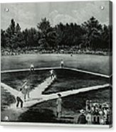 Baseball In 1846 Acrylic Print by Omikron