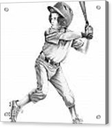 Baseball Kid Acrylic Print by Murphy Elliott