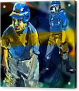 Baseball Stances  Acrylic Print by James Thomas