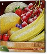 Basket Of Fruit Acrylic Print by Cheryl Young