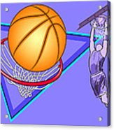 Basketball Acrylic Print by Erasmo Hernandez