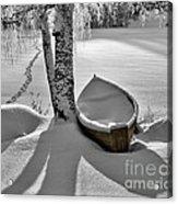 Bath And Snowy Rowboat Acrylic Print by Ari Salmela