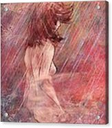 Bathing In The Rain Acrylic Print by Rachel Christine Nowicki