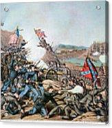 Battle Of Franklin, 1864 Acrylic Print by Granger