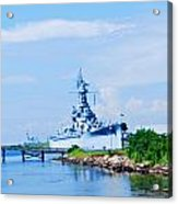 Battle Ship In Color Acrylic Print by Malania Hammer