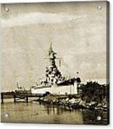 Battle Ship Acrylic Print by Malania Hammer