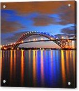 Bayonne Bridge Acrylic Print by Paul Ward