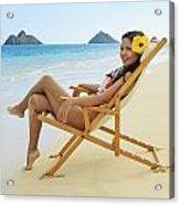 Beach Lounger Acrylic Print by Tomas del Amo